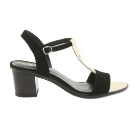 Sandały damskie Anabelle 1447 czarno/złote