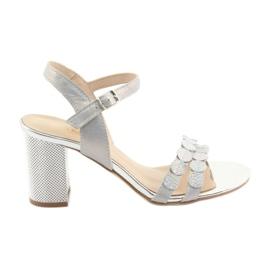 Sandały damskie srebrzyste Gamis 3658