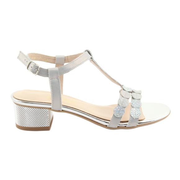 Sandały damskie paski Gamis 3661 szara perła szare