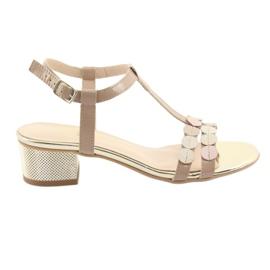 Sandały damskie paski Gamis 3661 beżowe