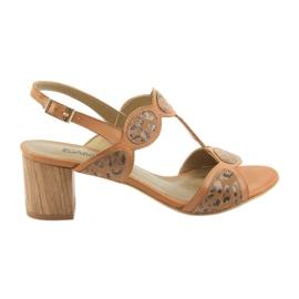 Sandały damskie toffi/panterka Anabelle 1352 beżowy