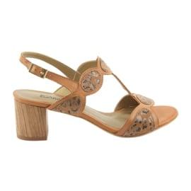 Sandały damskie toffi/panterka Anabelle 1352 brązowe