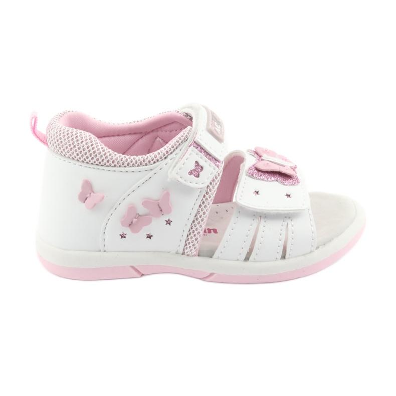American Club Sandałki dziewczęce motylki American DR19 białe różowe