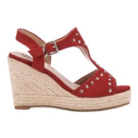 Kylie czerwone Sandałki Z Dżetami
