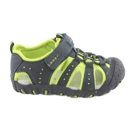 Sandałki chłopięce rzep American Club DR11 zielone granatowe