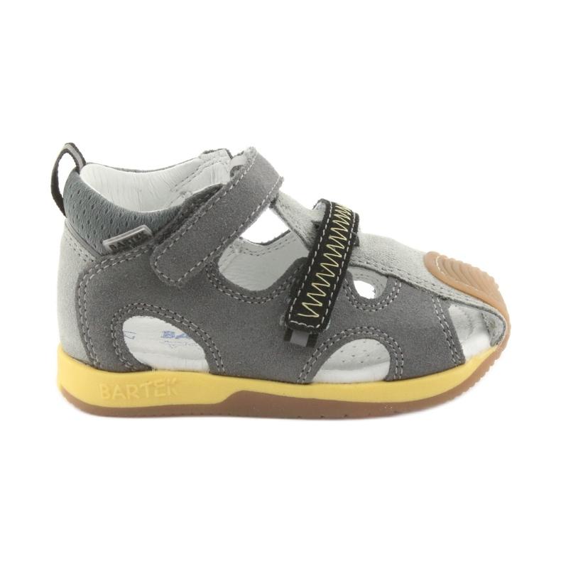 Sandałki chłopięce rzepy Bartek 81772 szare żółte