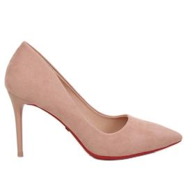 Czółenka na szpilce różowe E22369 Pink