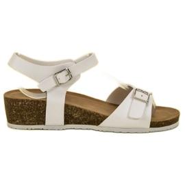 Seastar Klasyczne Sandały Na Koturnie białe