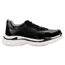 Goodin Czarne Skórzane Sneakersy