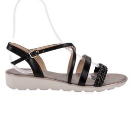 Kylie Czarne Sandały Na Platformie