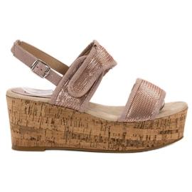 Kylie różowe Sandały Na Rzepy