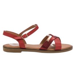 L. Lux. Shoes Stylowe Czerwone Sandały