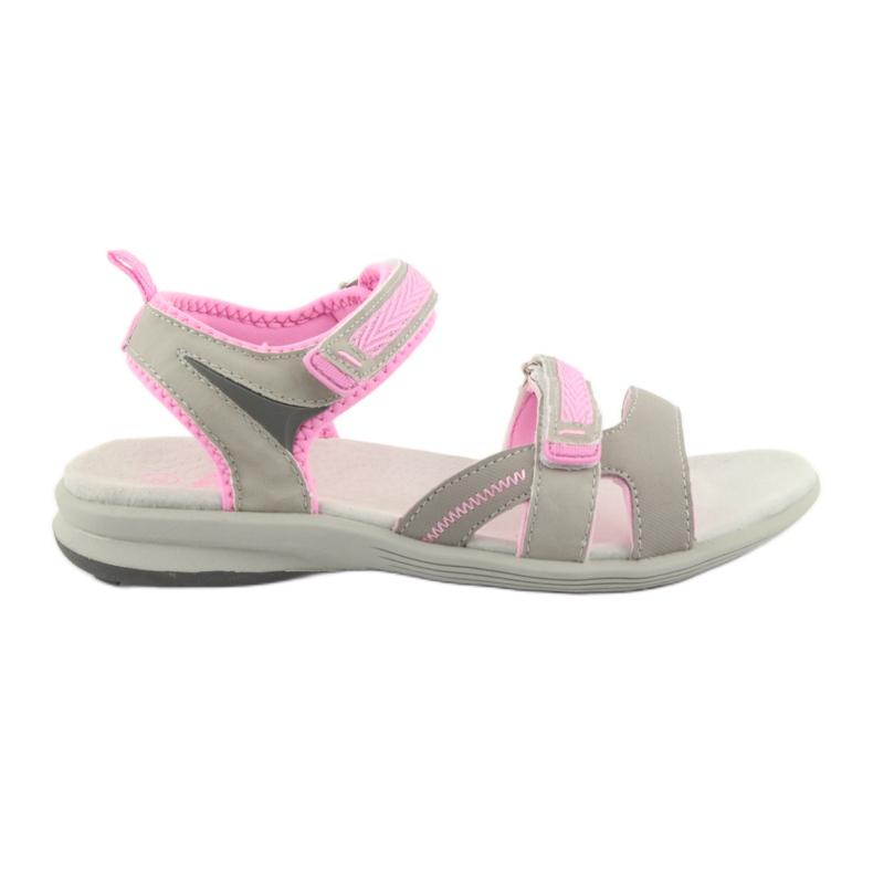 Sandały dziewczęce American Club HL12 szare