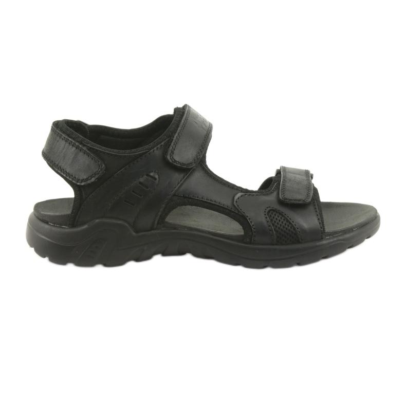 American Club American sandały sportowe skórzane CY11 czarne