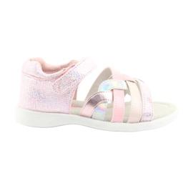 Sandałki dziewczęce American Club GC26 różowe szare
