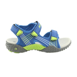 Sandałki chłopięce American Club HL16 blue/lime niebieskie zielone