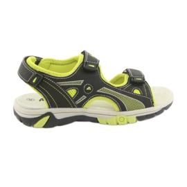 Sandałki chłopięce sportowe American Club RL22 czarne zielone