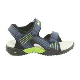 Sandałki chłopięce American Club HL15 granatowe zielone