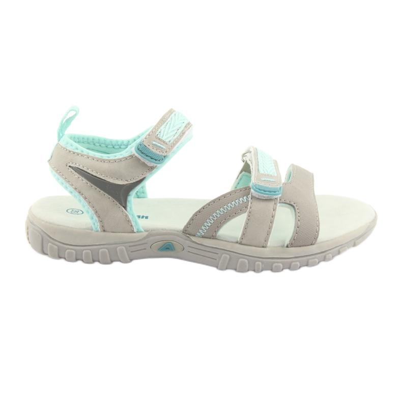 Sandałki dziewczęce sportowe American Club HL14 grey/mint