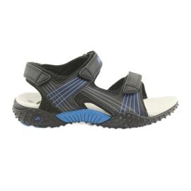 Sandałki chłopięce American Club HL15 czarne niebieskie