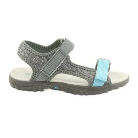 Sandałki z wkładką skórzaną American Club RL10 grey/blue