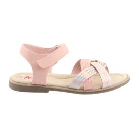 Różowe Sandałki dziewczęce metaliczne American Club GC23