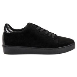 Lucky Shoes czarne Zamszowe Obuwie Sportowe