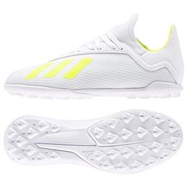 Buty piłkarskie adidas X 18.3 Tf Jr BB9404 białe wielokolorowe