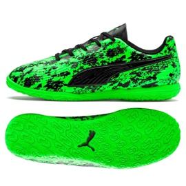 Buty halowe Puma One 19.4 It Jr 105504 04 czarny, zielony zielone
