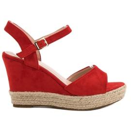 Bello Star czerwone Sandały Espadryle