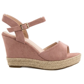 Bello Star różowe Sandały Espadryle
