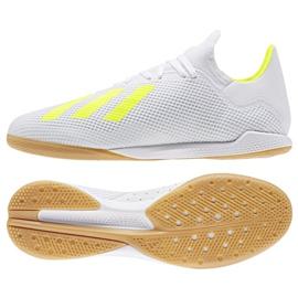 Buty halowe adidas X 18.3 In M BB9393 biały, żółty białe