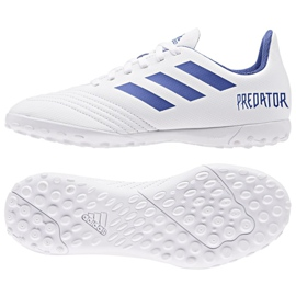 Buty piłkarskie adidas Predator 19.4 Tf Jr CM8558 białe wielokolorowe