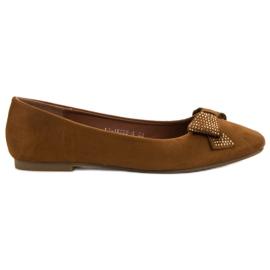 Best Shoes brązowe Camelowe Baleriny