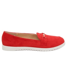 Mokasyny damskie czerwone BJ600-E25 Red