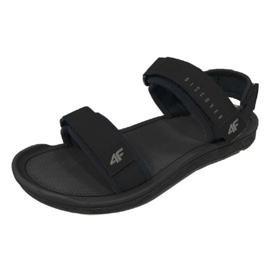 Czarne Sandały 4F M H4L19-SAM001 20S czarny