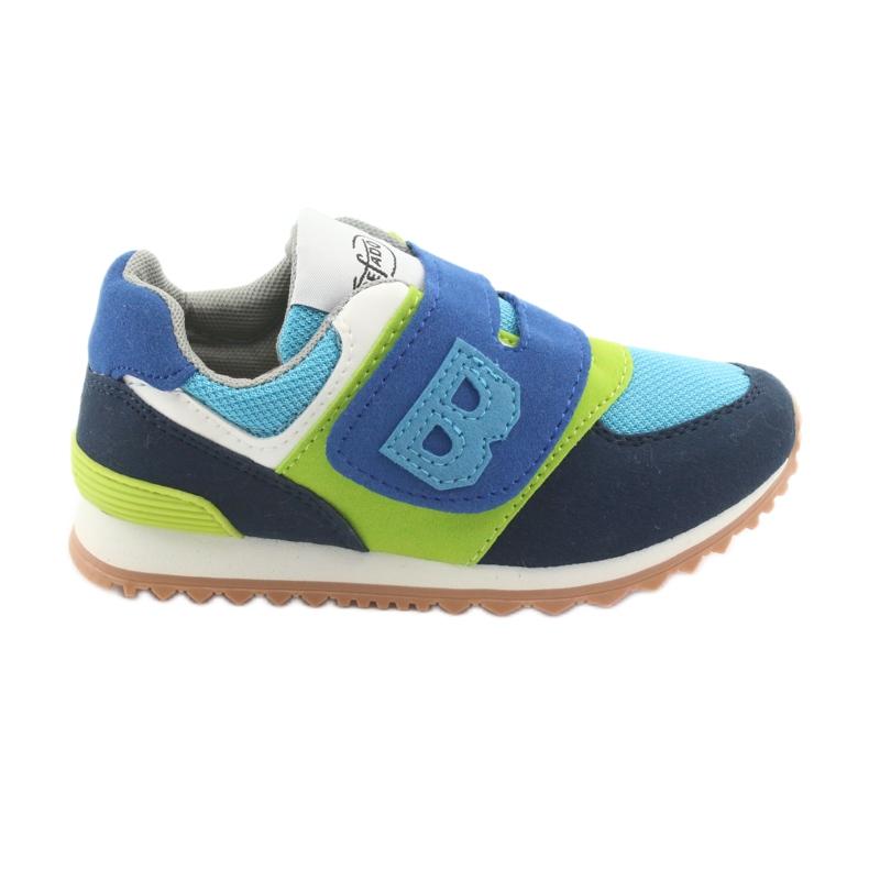 Befado obuwie dziecięce do 23 cm 516X043 niebieskie zielone granatowe