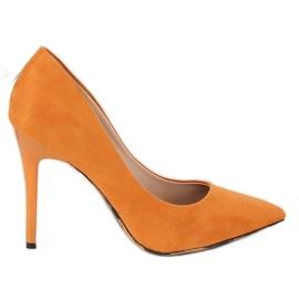 Czółenka na szpilce camel 9003-18 Orange