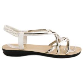 Camo białe Wsuwane Sandałki Z Gumką