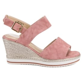 SHELOVET Lekkie Różowe Sandałki