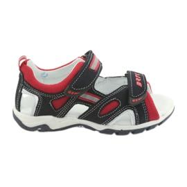 Sandałki chłopięce rzepy Bartek 16176 granatowo-czerwone szare granatowe