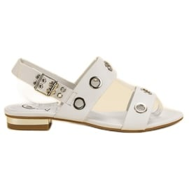 Kylie Casualowe Białe Sandały