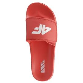 Czerwone Klapki 4F Jr J4L19-JKLD200 62S czerwony