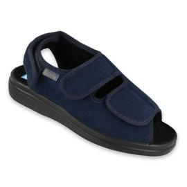 Granatowe Befado obuwie damskie pu 676D003