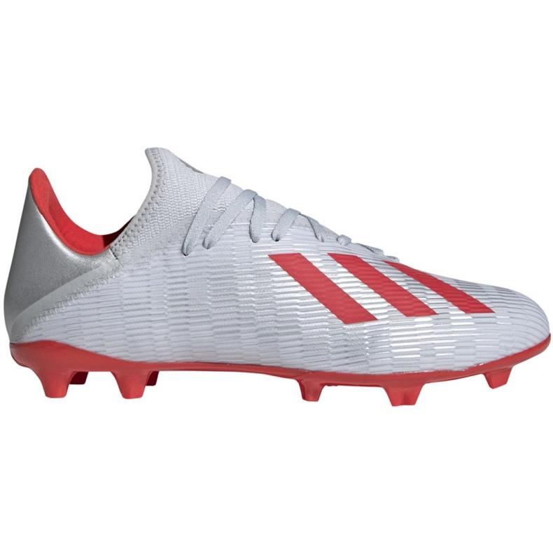 Buty piłkarskie adidas X 19.3 Fg M F35382 srebrny wielokolorowe