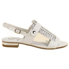 Kylie Białe Sandały Damskie