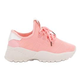 Różowe Tekstylne Obuwie Sportowe VICES