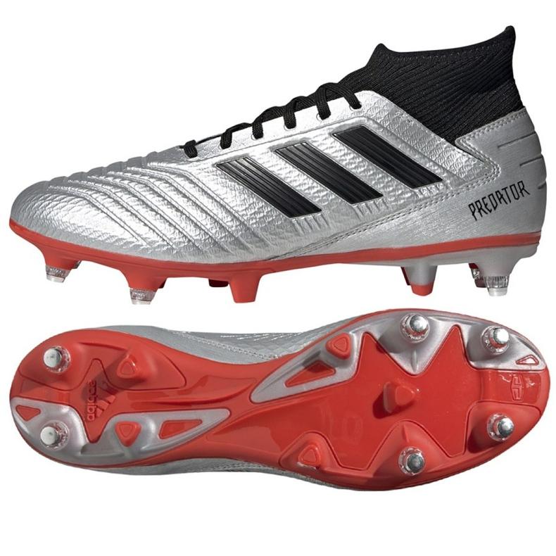Buty piłkarskie adidas Predator 19.3 Sg M F99992 srebrny wielokolorowe
