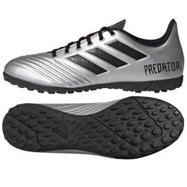 Buty piłkarskie adidas Predator 19.4 Tf M F35634 srebrny czerwony, czarny, szary/srebrny