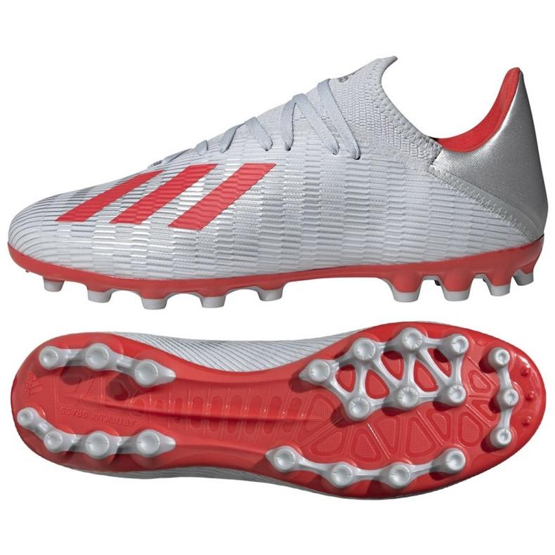 Buty piłkarskie adidas X 19.3 Ag M F35336 srebrny wielokolorowe